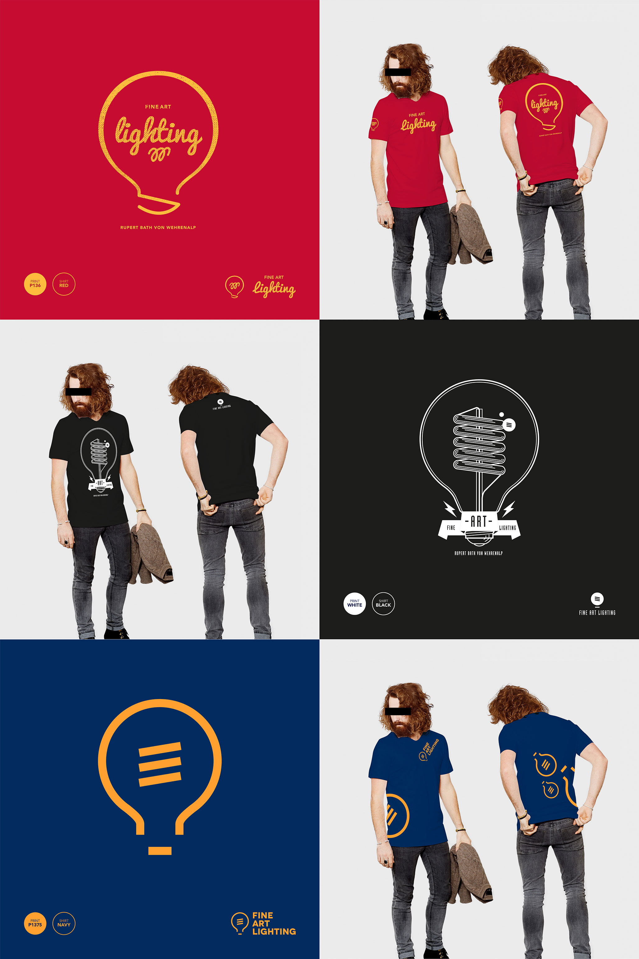 Shirt design concepts - T Shirt Design And Illustration Concepts For Rupert Barth Von Wehrenhelp Of Fine Art Lighting Only Stipulation Was The Use Of A Lightbulb